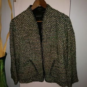 Green Multi Colored Zipper Jacket